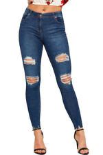 Jeans da donna slim , skinny medi invecchiato