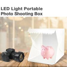 Photography Studio Led Light Portable Photo Tent Light Box w/ 2 Color Backdrops