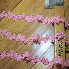 Delicate Pink floral Venise Lace Trim  - price for 1 yard