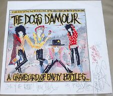 Dogs D'Amour - Graveyard OF Empty Rare UK LP Fully Autographed Tyla Quireboys
