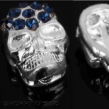 1 X Skull Bead Czech Crystal Pave Spacer Rhinestone Shamballa Bracelet Rondelle