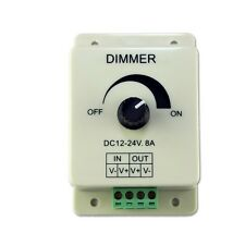 12V 8A 96W Dimming Controller Switch Dimmer For 3528 5050 LED Lights Ribbon