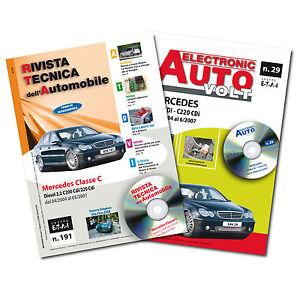 1 Manuale riparazione/manutenzione + 1 Manuale Diagnosi Auto Mercedes Classe C
