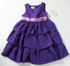 NWT girls size 4 purple sleeveless ruffle Christmas holiday dress by Marmellata!