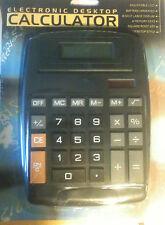 Black Extra Large Big Giant Calculator Jumbo Huge Buttons 8 Digit Flip Up LCD FS