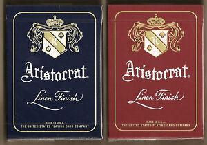 2 DECKS Aristocrat 727 Banknote playing cards