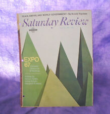VINTAGE EXPO 67 1967 CANADA MONTREAL WORLDs FAIR SATURDAY REVIEW ARTICLE