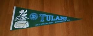 1980 Tulane Green Wave Hall of Fame Bowl pennant HOF NCAA Football