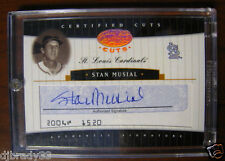 Stan Musial 2004 Leaf Certified Cuts 1/8 Autographed Check Card 1/1
