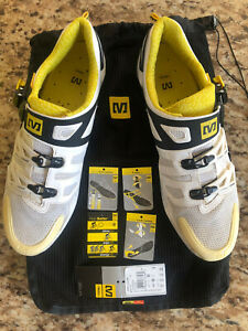 Mavic Zxellium SSC Cycling Road Shoes Carbon Fiber Size 10 EUR 44 White & Black