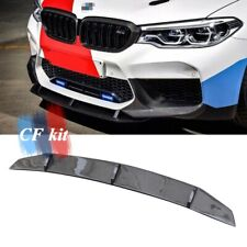 For BMW F90 M5 5 Series 2019--up Front Bumper Lip Spoiler Carbon Fiber MP Style