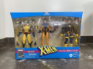 Marvel Legends 80 Years X-Men Wolverine Cyclops Jean Grey 3 pack Non Mint Box