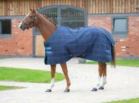 Shires Tempest Plus 100G 1200D Horse Stable Rug in Navy