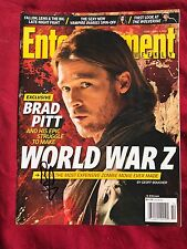 Brad Pitt Signed Entertainment Weekly In Person Autograph No Label World War Z
