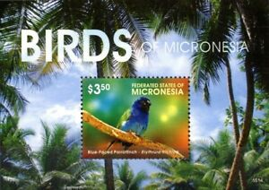 Micronesia 2015 MNH MS, Birds, Blue-Faced Parrotfinch