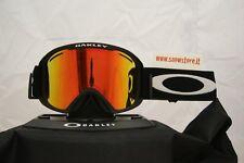 OAKLEY O2 XL MATTE BLACK FIRE IRIDIUM MASCHERA SKI SNOWBOARD NEW