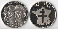 Médaille en Nickel la Victoire 1939/1945 ( trésor du Patrimoine - 002 )