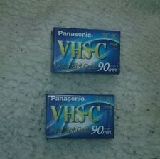 Lot of 2 Panasonic Super high grade 90 minute VHS-C blank cassette - new sealed