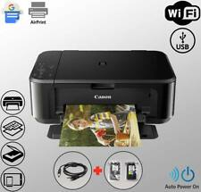 Wireless WiFi Printer All-in-One Copier Scanner + USB + Ink (Bundle)