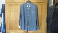 Lee Cooper Western Size XL Shirt Blue & White Check Branding to Pocket