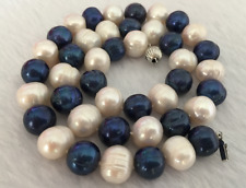 """x gorgeous 12-13mm south sea baroque  multicolor pearl necklace 18"""" gift"""