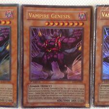 Yugioh Vampire Genesis SD2-EN001 Ultra Rare Holo Card Play Set