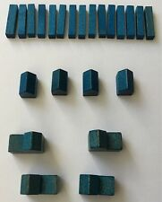 Settlers of Catan Blue Road City Settlement Wood Replacement Game Part Piece 483