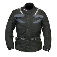 Mens Motorcycle Motorbike CE armoured Waterproof Cordura jackets Black
