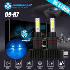 H7 LED Headlight Bulb Conversion Kit High/Low Beam Fog Light 8000K ICE BLUE 2PCS