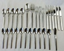 huge lot of 28 pieces of oneida ILLUMINA 18/10 stainless flatware set 5-06
