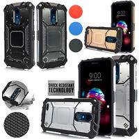 LG K10 2018, K30, K10+, X410 Carbon Metal Defender Jacket Shockproof TPU Case