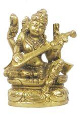 "Wholesale Lot Handmade Brass Goddess Sawaswati Statue Made In India:4"" x 2.5"""