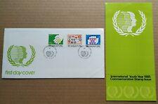 Singapore 1985 International Youth Year 3v Stamps FDC 新加坡3全邮票首日封 --- 国际青年年