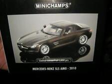 1:18 Minichamps Mercedes-Benz SLS AMG 2010 BROWN/MARRONE N. 100039028 IN SCATOLA ORIGINALE