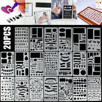 20pcs Bullet Journal Stencil Plastic Planner DIY Drawing Template Diary