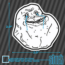 """Forever Alone SMALL - 2.0""""x2.0"""" - printed vinyl decal sticker meme"""