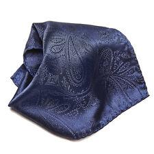 Navy Blue Paisley Design Men's Hankerchief Pocket Square Hanky