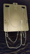 Jewelry  Body Chain Crystal Necklace Stylish Rhinestone free shipping