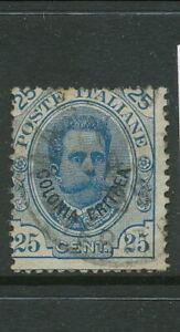 ERITREA ITALY 1893 25 cents BLUE USED BIN PRICE GB£10.00