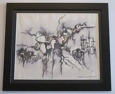 MICHAEL DORMER (b.1935) LISTED VINTAGE MODERNIST ABSTRACT SURREALISM PAINTING