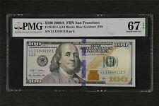 2009A FRN San Francisco 100 Dollars Fr#2187-L PMG 67 EPQ Superb Gem UNC