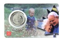 2000 Canada 25 Twenty Five Cent Quarter Wisdom Sagesse Coin Card RCM H208