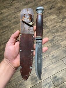 """Extremely Rare Antique CASE XX """"Carson"""" Fixed Blade Knife Wood Handle NO RESERVE"""