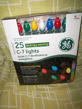 Ge 25 Energy Savings Multi-Color C7 String Lights ~Heavy Duty~ 2007 ~ Rare ~ Nib