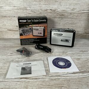 ZENNOX D3941 cassette TAPE TO DIGITAL CONVERTER to CD OR MP3 vgc WORKING boxed