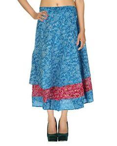 Rajrang MultiColor Sarong Floral Printed Casual Western Wear summer skirt, 2tone