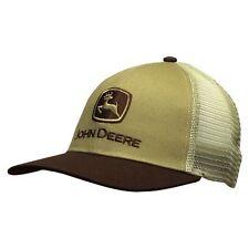 John Deere Old School Mesh Trucker Style Hat in Brown