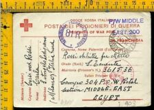 WW 2 Militare Posta Prigionieri Croce Rossa x Sant' Angelo Lodigiano Lodi I 903