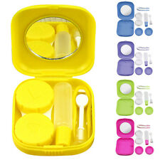 Mini Contact Lens Case Travel Kit Mirror Pocket Size Storage Holder Container E