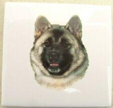 Ceramic Tile Akita Dog